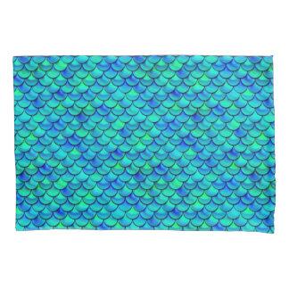Falln Aqua Blue Scales Pillowcase