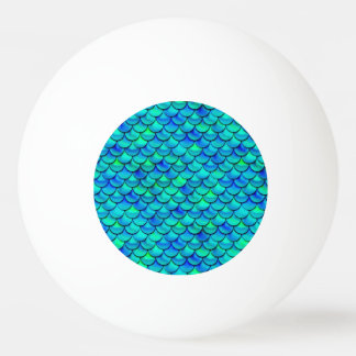 Falln Aqua Blue Scales Ping Pong Ball