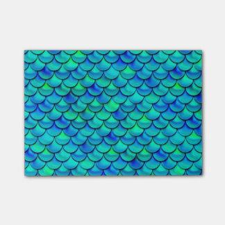 Falln Aqua Blue Scales Post-it Notes
