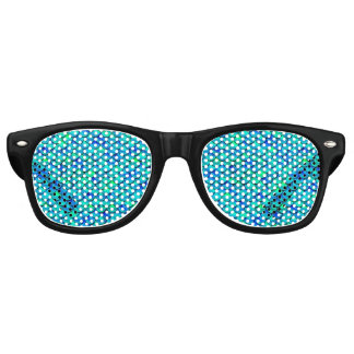 Falln Aqua Blue Scales Retro Sunglasses