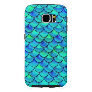 Falln Aqua Blue Scales Samsung Galaxy S6 Cases