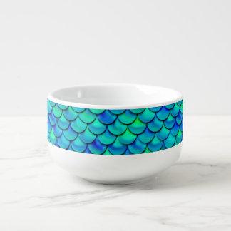Falln Aqua Blue Scales Soup Mug