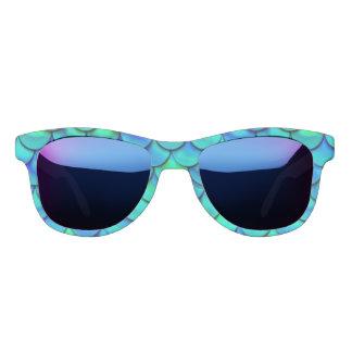 Falln Aqua Blue Scales Sunglasses