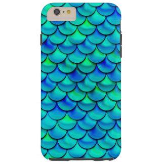 Falln Aqua Blue Scales Tough iPhone 6 Plus Case