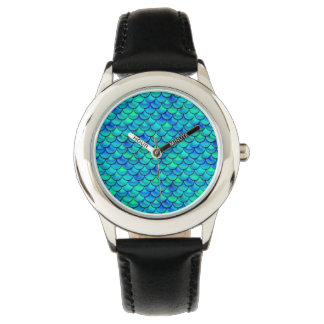 Falln Aqua Blue Scales Watch