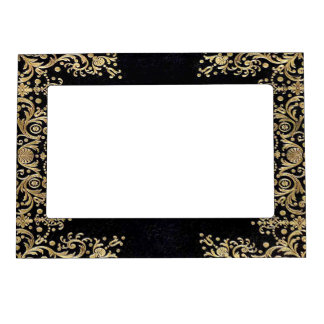 Falln Black And Gold Filigree Magnetic Picture Frame