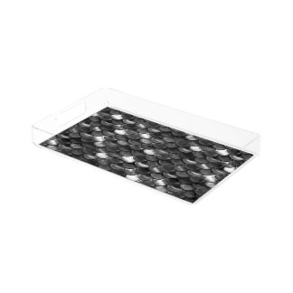Falln Black and White Scales Acrylic Tray