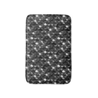 Falln Black and White Scales Bath Mat