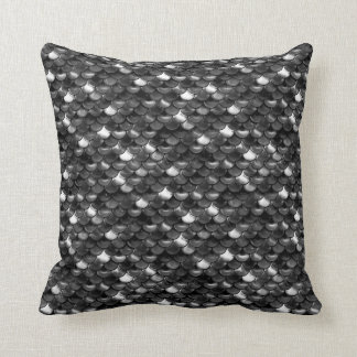 Falln Black and White Scales Cushion