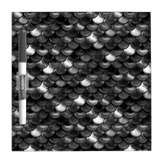 Falln Black and White Scales Dry Erase Board