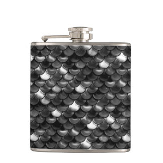 Falln Black and White Scales Flask