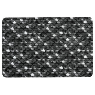 Falln Black and White Scales Floor Mat