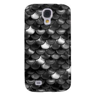 Falln Black and White Scales Galaxy S4 Cover