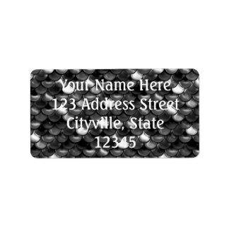 Falln Black and White Scales Label