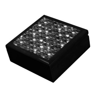 Falln Black and White Scales Large Square Gift Box