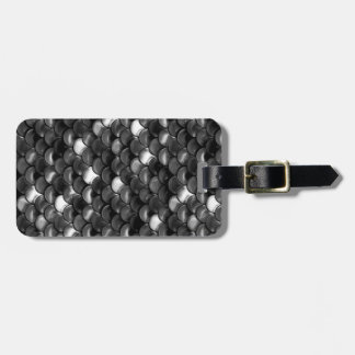 Falln Black and White Scales Luggage Tag