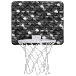 Falln Black and White Scales Mini Basketball Hoop