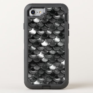 Falln Black and White Scales OtterBox Defender iPhone 8/7 Case