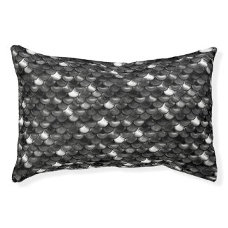 Falln Black and White Scales Pet Bed