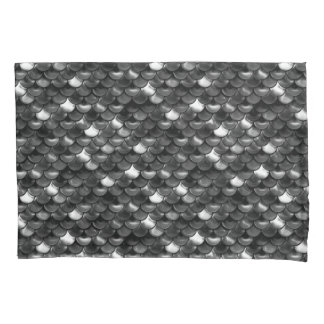 Falln Black and White Scales Pillowcase