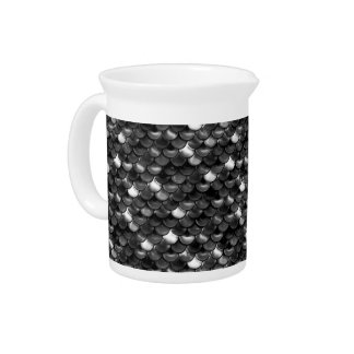 Falln Black and White Scales Pitcher