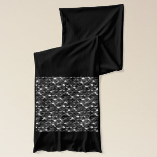 Falln Black and White Scales Scarf