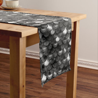 Falln Black and White Scales Short Table Runner