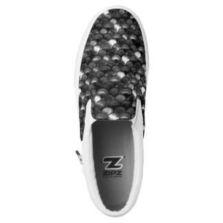 Falln Black and White Scales Slip-On Shoes