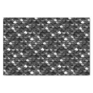 Falln Black and White Scales Tissue Paper