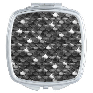 Falln Black and White Scales Travel Mirrors