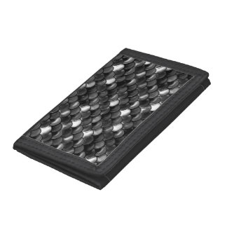 Falln Black and White Scales Tri-fold Wallet
