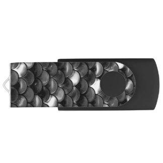Falln Black and White Scales USB Flash Drive