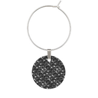 Falln Black and White Scales Wine Charm