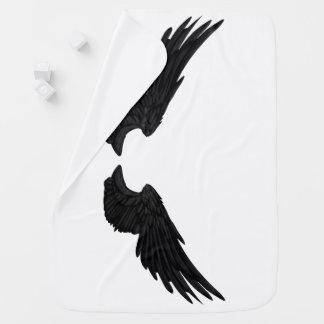 Falln Black Angel Wings Baby Blanket