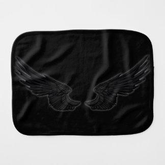 Falln Black Angel Wings Burp Cloth