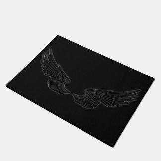 Falln Black Angel Wings Doormat