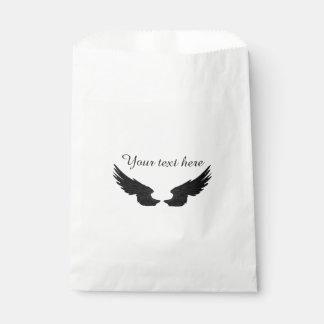 Falln Black Angel Wings Favour Bag