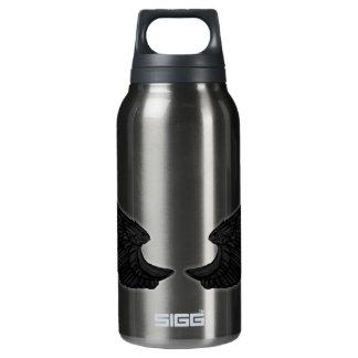 Falln Black Angel Wings Insulated Water Bottle