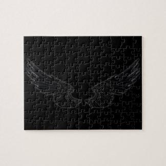 Falln Black Angel Wings Jigsaw Puzzle