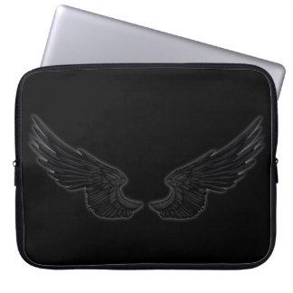 Falln Black Angel Wings Laptop Sleeve