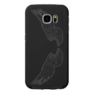 Falln Black Angel Wings Samsung Galaxy S6 Cases