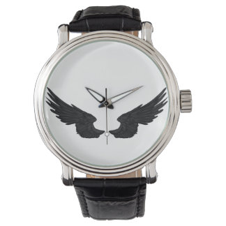 Falln Black Angel Wings Watch