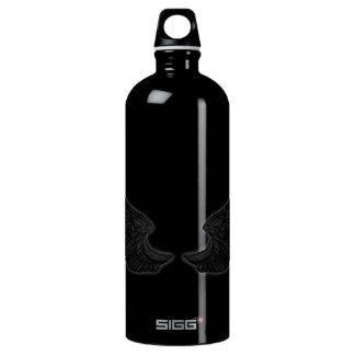 Falln Black Angel Wings Water Bottle