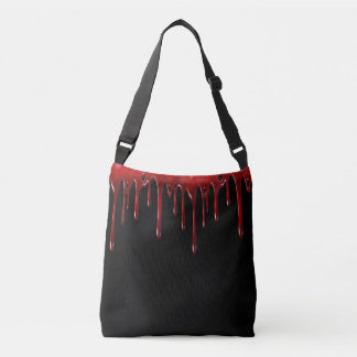 Falln Blood Drips Black Crossbody Bag