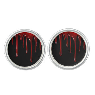 Falln Blood Drips Black Cuff Links