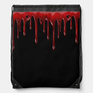 Falln Blood Drips Black Drawstring Bag