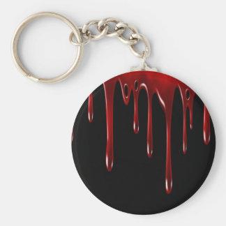 Falln Blood Drips Black Key Ring