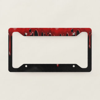 Falln Blood Drips Black Licence Plate Frame