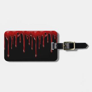 Falln Blood Drips Black Luggage Tag
