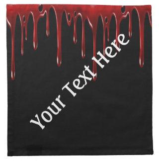 Falln Blood Drips Black Napkin
